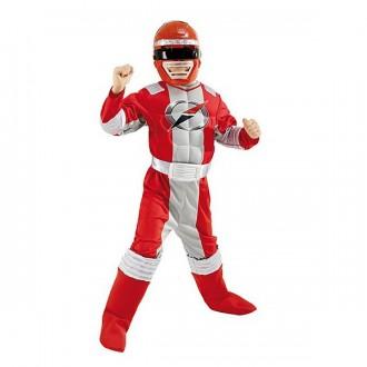 Kostýmy - Power Ranger Red Muscle Chest - licenčný kostým