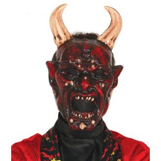 Halloween - Maska lucifer s rohmi