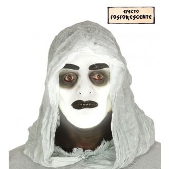 Halloween - Fluoreskujúce maska ducha - ON