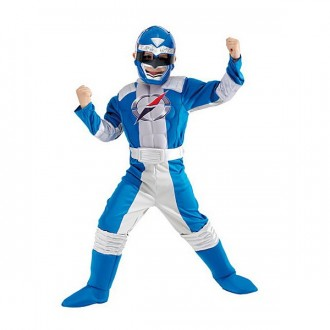 Kostýmy - Power Ranger Blue Muscle Chest - licenčný kostým