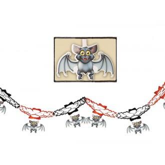 Halloween - Girlanda s netopiermi 15 x 200 cm