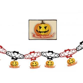 Halloween - Girlanda s dyňami 15 x 200 cm