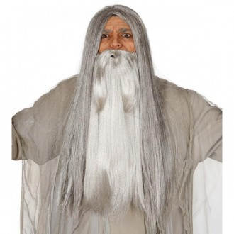 Doplnky - Veľké fúzy šedej vlasovej