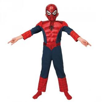 Kostýmy - Ultimate Spiderman Deluxe Metallic Child L