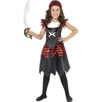 Kostýmy - Dievčenský pirátsky kostým