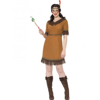 Kostýmy - Hnedý indiánsky kostým