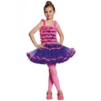 Kostýmy - Balerína ružovo-fialová