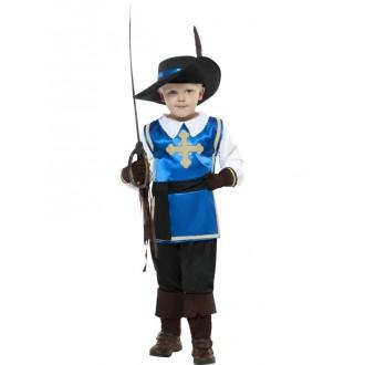 Kostýmy - Modrý mušketier - kostým