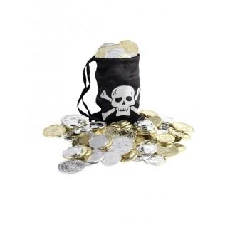 Doplnky - Pirátsky mešec s mincami