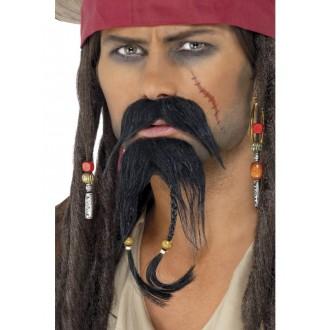 Piráti - Pirátske fúzy s briadkou