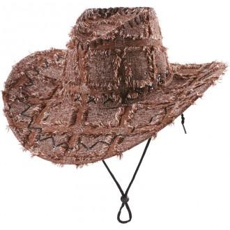 Kovboji - Záplatovaný klobouk kovbojský hnědý