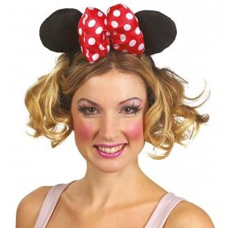 Doplnky - Minnie - veľká čelenka s mašľou