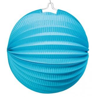 Párty doplnky - Lampión 26 cm modrý