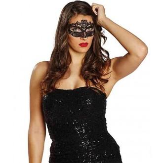Masky - Benátska čipková maska čierna I