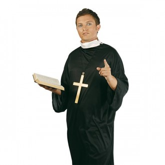 Kostýmy - Kostým kňaza -veľ. 52 - 54
