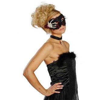 Halloween - Zakrvavená maska s lebkou a hnátmi