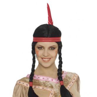 Parochne - Indiánska dámska parochňa s čelenkou