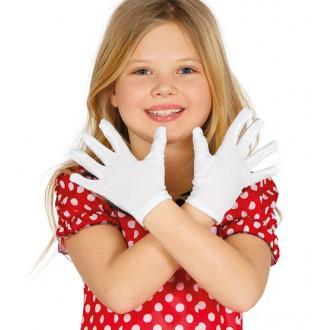Rukavice - Detské rukavice biele