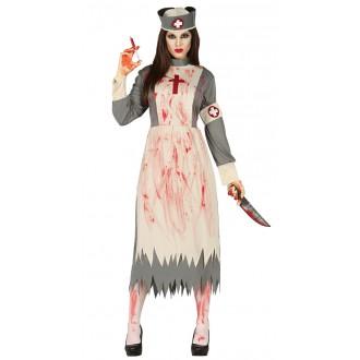 Halloween - Zombie ošetrovateľka - kostým