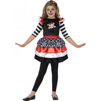 Halloween, horor - Farebný kostým s lebkou