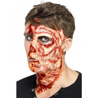 Halloween - Imitácia zranenia - spálená tvár