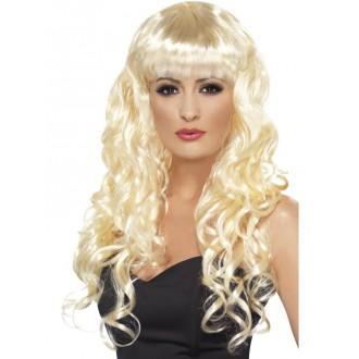 Parochne - Kučeravá parochňa s ofinou - blond