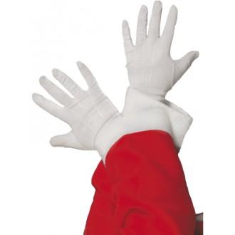 Mikuláš, anjel, čert - Biele rukavice Santa