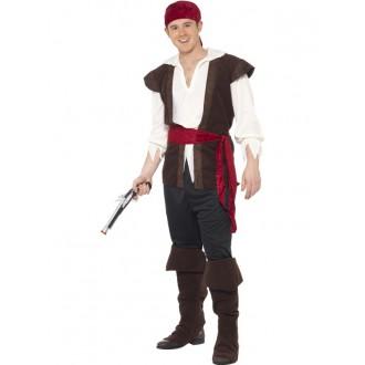 Kostýmy - Pirátsky kostým s šatkou