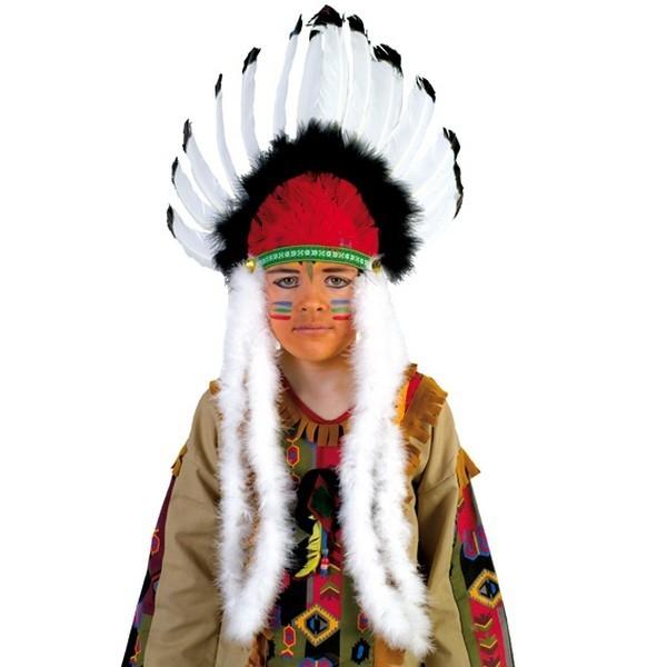 3d47ea73f68 Indiánska čelenka čierno-biela veľká - Svet-masiek.sk