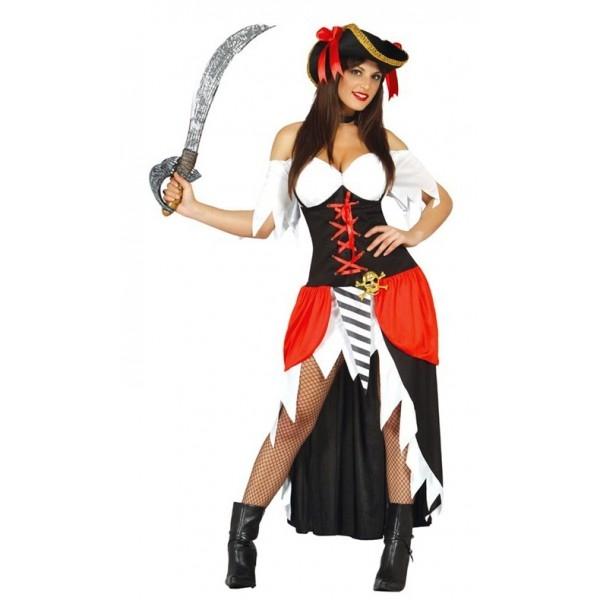 Pirátsky kostým - korsárka - M - Svet-masiek.sk fd7f7b4eb28