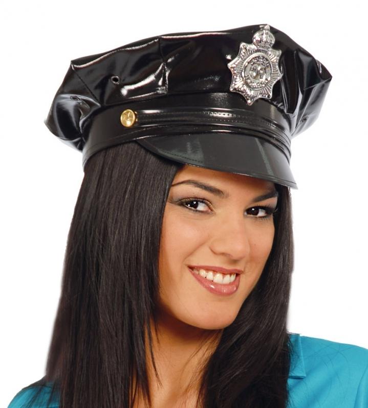 961044764 Policajná čiapka - vinyl - Svet-masiek.sk