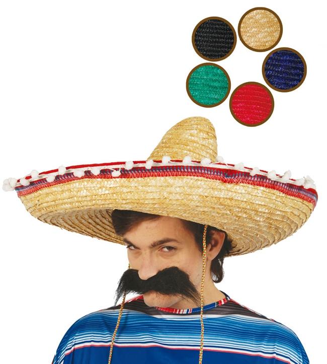69a6e0d1a Mexický klobúk s pomponi - Svet-masiek.sk