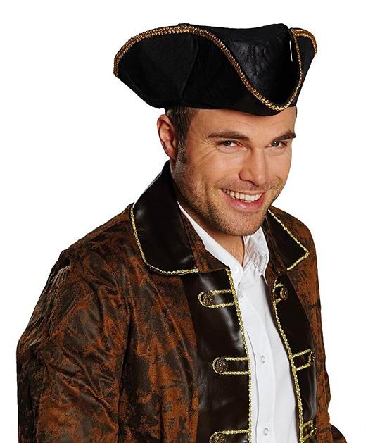 Pirátsky klobúk detský imitácia kože - 55