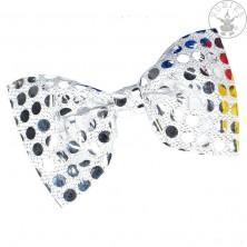Motýlik flitrový strieborný