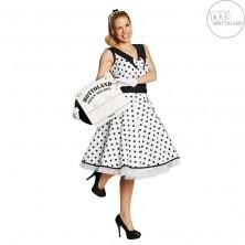 Rock and Roll - biele šaty