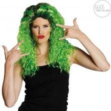 Curly long wig green - dámska parochňa