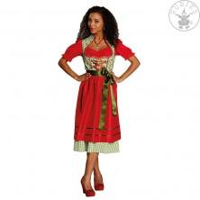 Dirndl tradičný kostým červeno-zelený