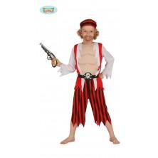 Pirát červený pruhovaný