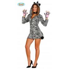 Dámsky kostým zebra