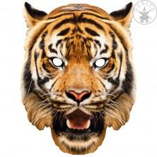 Tiger - kartónová maska pre dospelých