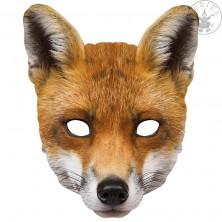 Liška - kartónová maska pre dospelých