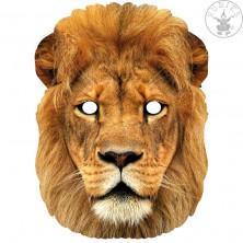 Lev - kartónová maska pre dospelých
