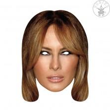 Melania Trump First Lady - kartónová maska pre dospelých