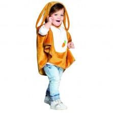Detská pelerína s kapucňou - zajačik