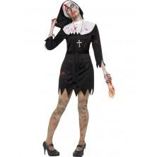Zombie mníška kostým