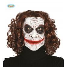 Latexová maska Joker s vlasmi