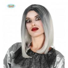 Dámska atraktívna parochňa Mi-Longue čierno-biela