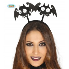 Vlasová spona s netopiermi čierna