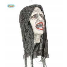 Zombie hlava so svetelným efektom