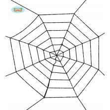 Čierna pavúčiu sieť 100 cm